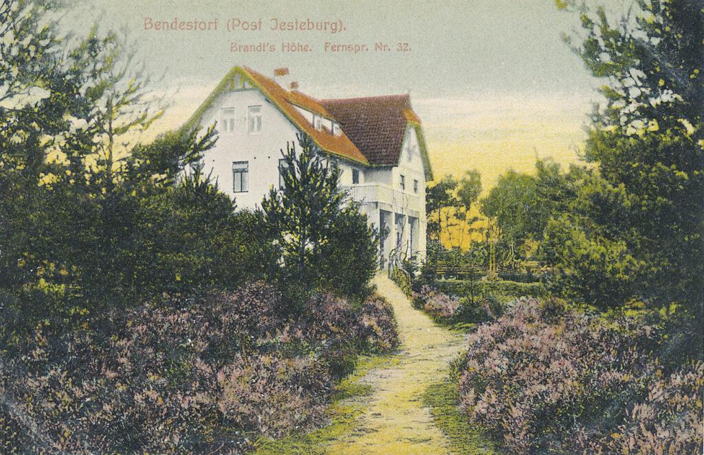 Brandt's Höhe, 1915 (kolorierte Postkarte)