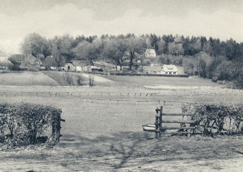 Auf dem Weg zum Rüschdann (Postkarte), 1957